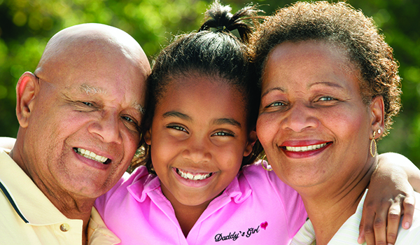 image of grandparents with granddaughter